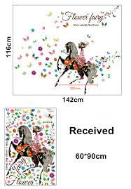 aliexpress com buy latest beautiful flower fairy wall sticker