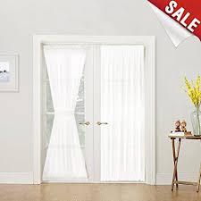 amazon com french door curtain panel linen look french door