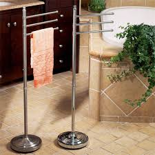Floor Towel Racks For Bathrooms by Special Stainless Steel Towel Stand For Chic Bathroom Floor Towel