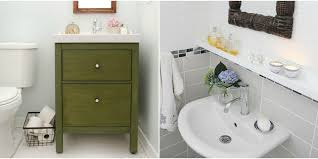IKEA Bathroom Hacks New Uses For IKEA Items In The Bathroom - Vanities for small bathrooms ikea