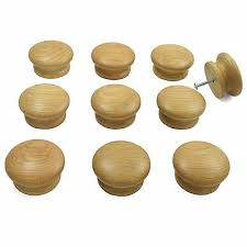 oak kitchen cupboard door knobs 10 x oak wooden door drawer knobs kitchen cupboard cabinets 55mm diameter ebay