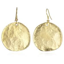 gold disc earrings kenneth satin gold disc earrings polyvore