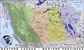 Map Canada by Western Canada Public Domain Maps By Pat The Free Open Source