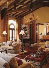 Floor To Ceiling Curtains Decorating Tuscan Style Living Room Decorating Ideas Brown Lacquered Wood