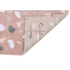 Machine Washable Rug Lorena Canals Terrazzo Rose Quartz Machine Washable Rug U2013 Petit Bazaar
