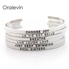 name engraved bracelets stainless steel personalized name engraved positive inspirational