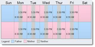2 2 3 custody u0026 visitation schedule examples create yours now