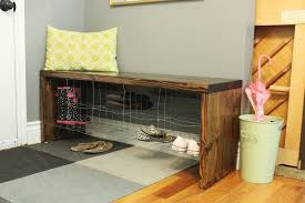 diy industrial entry shoe bench