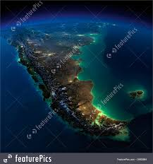 World Map At Night by Night Earth A Piece Of South America Argentina And Chile