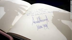 memorial guest book the way president signs guest books is different cnnpolitics