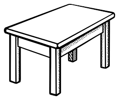 table clipart line pencil and in color table clipart line
