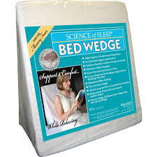 broyhill adjustable gel memory foam wedge bed pillow bed wedge pillow white bed