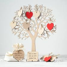 wishing tree wishing tree small wooden guest book by craft heaven