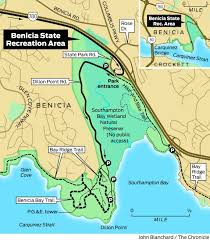 Gulf State Park Map by Hiking And Biking At Benicia State Recreation Area Sfgate
