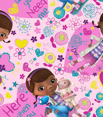 doc mcstuffins wrapping paper disney junior doc mcstuffins here when you need me cotton fabric