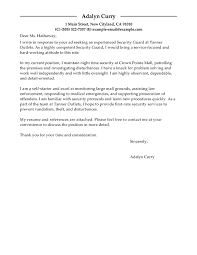 ideas of cover letter examples for security supervisor for your