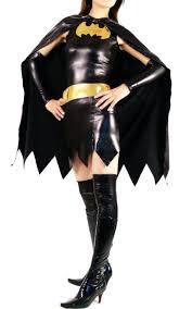 batgirl halloween costume accessories shiny metallic super hero womens zentai batgirl costume with