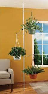 In House Plant Spring Tension Rod Indoor Plant Pole With 3 Adjustable Arms