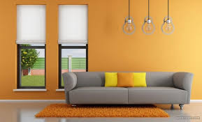 Beautiful Wall Painting Ideas And Designs For Living Room - Bedroom orange paint ideas