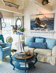 rustic maine seaside cottage living room featured on completely