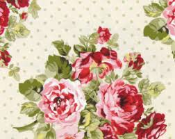 Shabby Chic Quilting Fabric by Shabby Pink Fabric Etsy