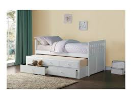 Captain Bed With Trundle Homelegance Galen Twin Captain U0027s Bed With Trundle And Storage
