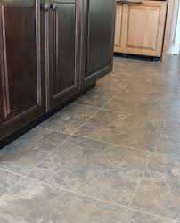 flooring two tone kitchen cabinets with armstrong alterna tile
