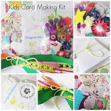 kids card making kit childrens craft activity