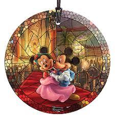 disney mickey and minnie kinkade ornament more home