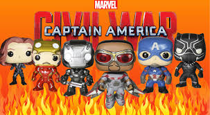 captain america civil war funko pop collection toy review with