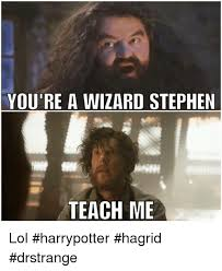 Wizard Memes - you re a wizard stephen nne teach me lol harrypotter hagrid
