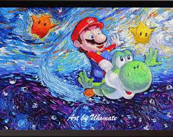 Super Mario Home Decor Super Mario Decor Etsy