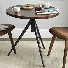 Edison Bistro Table Round Adjustable Bistro Table Westelm Midcentury Office