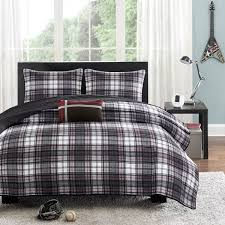 Twin Plaid Bedding by Shop Mizone Harley Black Duvet Collection The Home Decorating