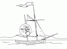 realistic sail boat coloring page for kids transportation