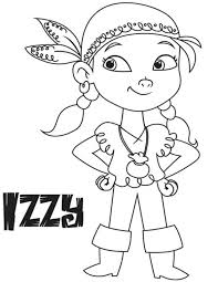 jake neverland pirates coloring pages izzy christmas