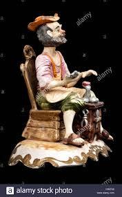 italian capodimonte cobbler figurine stock photo royalty free