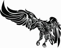 simple vulture tattoo take your time banner and vulture tattoo design