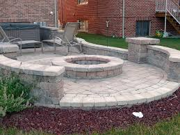 Simple Backyard Patio Ideas Simple Backyard Paver Fire Pit The Latest Home Decor Ideas