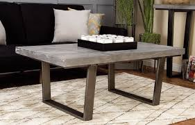 concrete and wood coffee table cole grey wood and concrete coffee table reviews wayfair