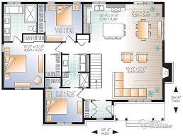 plan maison plain pied 3 chambre plain pied 3 chambres grande cuisine dessins drummond