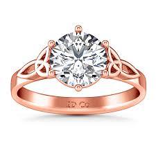 verlobungsring solitã r solitaire engagement ring fiona celtic knot 14k gold