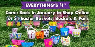 easter badkets 1 easter baskets buckets pails dollartree