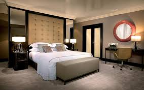 White And Cream Bedding Homy Bedroom Shows Its Luxurious By The Master Bed With Perfect
