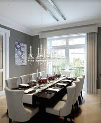 Moder Chandelier Contemporary Dining Room With Chandelier U0026 Hardwood Floors