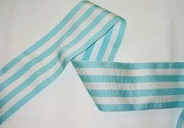 blue and white striped ribbon stripe grosgrain 2 5 aqua white stripes farmhouse fabrics
