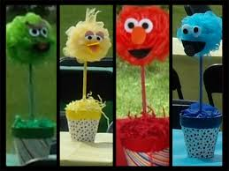 Elmo Centerpieces Ideas by With A Little Help From My Friends Sesame Street Centerpieces