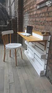 bureau palette bois bureau console en bois de palette back front yard