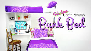 How To Make A Slide For A Bunk Bed by Fabulous Craft Review Doll Bunk Bed Youtube