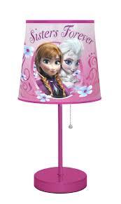 amazon com disney frozen pink table lamp furniture u0026 decor